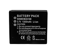 1300mAh Camera Battery Pack for  PANASONIC  DMW-BCE10/VW-VBJ10/S008/RICOH DB70