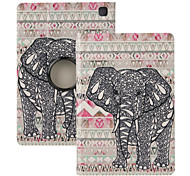 "Elonbo® Cute Gray elephant 360 Rotating PU Leather Full Body Protector Case Cover For Amazon Kindle Fire HDX 7""2013 Gen."