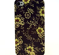 Yellow Flowers Pattern Ultrathin TPU Soft Case for iPhone 4/4S