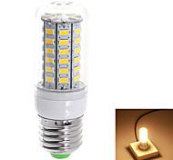 E27 10W 1000lm 3000K / 6000k56-SMD 5730 LED Warm White / Natural WhiteLight LED Corn Bulbs (110V)