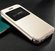 Solid Color Genuine Leather Full Body Case with Credit Card Slot for iPhone 6 Plus (Assorted Colors)