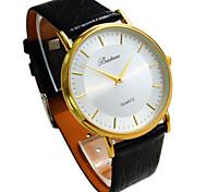 esplosione uomini tondo orologio da polso impermeabile quarzo sottile fashion business calendario cinturino in pelle quadrante (colori