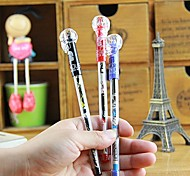 Cute Cartoon Stylish Plastic Multi Color Gel Pen (Random Delivery)