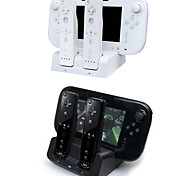 3 in 1 Charger Dock Station Stand Charger for Nintendo Wii U Gamepad & Remotes