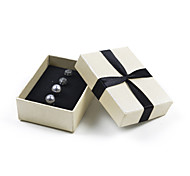 Fashion Women Pearl And Crystal Ball Stud Earrings Set Gift Box