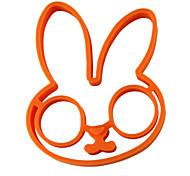 Форма кролик яйцо кольцо для завтрака, яйцо плесень инструменты для приготовления пищи, силикон