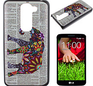 Elephant Pattern PC Phone Case for LG G2 mini