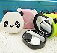Cute Panda Shaped Candy Color Cantact Lens Case (Random Color)