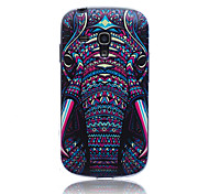 Elephant Pattern TPU Soft Back Cover Case for Samsung S3 Mini I8190N