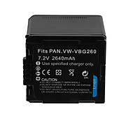 2460mAh Camera Battery Pack for PANASONIC VW-VBG260