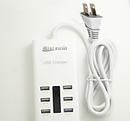 Mini smile™ 100-240V US Plug USB Power Adapter with 6 USB Power Ports for Moblie Phone and Tablets