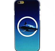 Big Shark into White Circle Pattern Case for iPhone 6