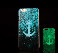 Anchors Pattern Glow in the Dark Hard Case for iPhone 6 Plus