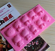 Bakeware Silicone  Baking Molds for Chocolate Cake Jelly (Random Colors)