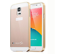 Metal Framework With PC Back Cover Hard Cover for Samsung S5 I9600(Assorted Color)