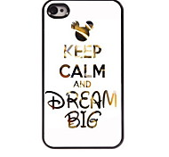 Keep Calm and Dream Big Design Aluminum Hard Case for iPhone 4/4S