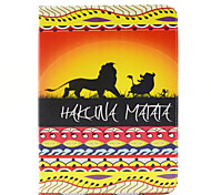The Lion King Pattern PU Leather Case Cover with Stand and Card Holder for Samsung Galaxy Tab 4 10.1 T530