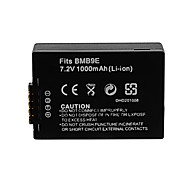 1000mAh Camera Battery Pack for PANASONIC DMW-BMB9E(T)