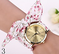 2015 Women Dress Watch Wristwatch Girl Bow Cloth Strap