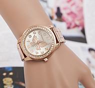 Mulheres Relógio de Moda Quartz Metal Banda Prata / Dourada / Ouro Rose marca-