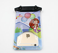 Universal 6 Inch Cartoon PVC Waterproof Phone Case 10 Meters Underwater Phone Bag Pouch Dry No.022 (All Models)