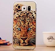 Beautiful Leopard Pattern TPU Soft Case for Samsung Galaxy S6
