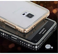 Special Design Metal Diamond Bumper Frame and Transparent TPU  for Samsung Galaxy NOTE 4