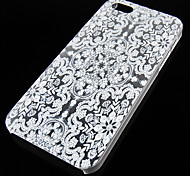 Retro Pattern Transparent Back Case for iPhone5/5s