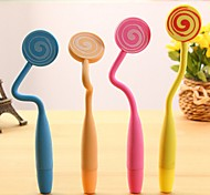 Flexible Cute Lollipop Style BallPoint Pen (Random Color)