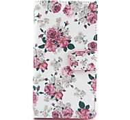Beautiful Flowers Pattern PU Leather Full Body Case with Stand and Wallet for Nokia Lumia 830