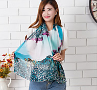 Women's Beautiful Color Leopard Printed Chiffon Scarves(Assorted Color)