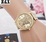 relógio de forma diamante borboleta quartzo correia de aço analógico das mulheres (cores sortidas)
