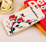 Beautiful Flower Painting TPU Falling Proof Case for iPhone 6