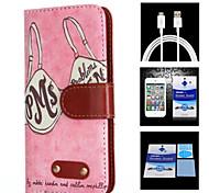 padrão sutiã protetor caso + 1 tela hd corpo inteiro + 1 usb cabo de carregamento para Samsung Galaxy i9500 S4