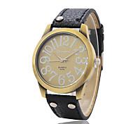 negócio da moda liga ocasional água recurso rodada pulseira de couro resistente relógio de pulso de quartzo dos homens
