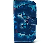 Black Cat Pattern PU Leather Case with Stand for Samsung Galaxy S3 MINI I8190