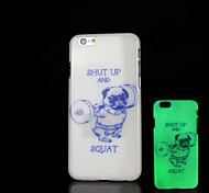 Animal Dogs Pattern Glow in the Dark Case for iPhone 6 Cover