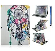 9,7 inch 360 graden rotatie bal patroon met stand case en pen voor ipad lucht 2 / ipad 6