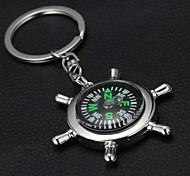 Rudder Compass Keychain