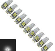 Luces Decorativas T10 1.5W 20 SMD 3528 85lm LM Blanco Fresco DC 12 V 10 piezas