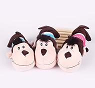 Plush Squeak Monkey Shape Pillow Chew Toy for Little Dogs(Random Color)