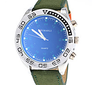 Men's Casual Design Fabric Band Quartz Wrist Watch