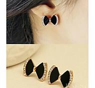 Alloy/Rhinestone Earring Stud Earrings Party/Sports 1set