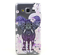 Flowers Elephant Pattern TPU Diamond Relief Back Cover Case for Samsung Galaxy Prime G530