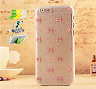 Bow Pattern Striae PC Protective Shell And Dust Plug Bracket Assembly for iPhone 6