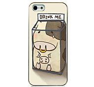 Drink Milk Pattern Back Case for iPhone5/5s