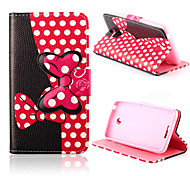 5 Inch Bowknot Pattern Wallet Leather Case for Sony E4