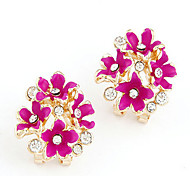Hollywood Star Club Fashion The Sell Like Hot Cakes Gold-Plated Earrings(Multi-Colored)