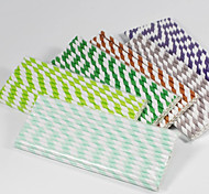 25pcs/lot Striped Paper Straws for Party Home