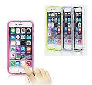casos de protección de la pantalla táctil del tpu borde suave de acrílico transparente del teléfono móvil del tirón libre para iPhone6